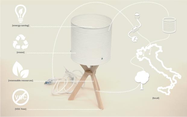 Margherita, sustainable lamp, creative, design, Izmade, Torino, lampada sostenibile