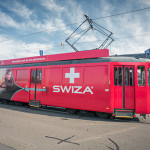 SWIZA TRAM AKTION AN DER BASELWORLD 2015